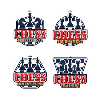 Chess badge design logo collection