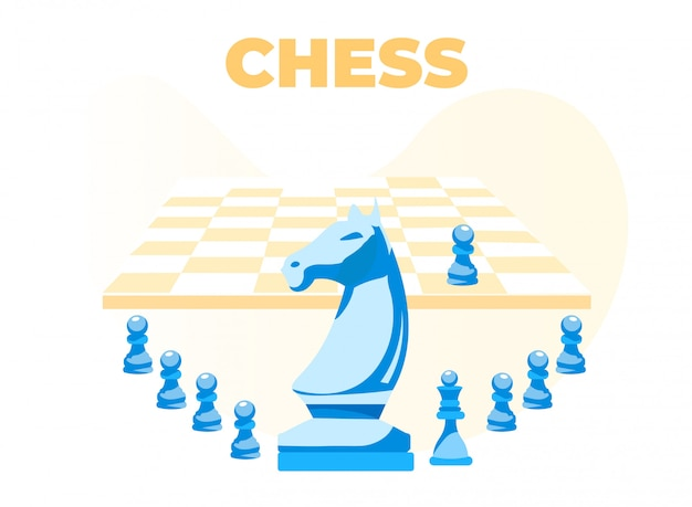 Chess banner with board