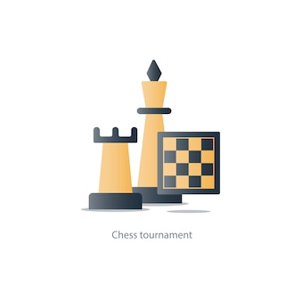 Chess board game illustration