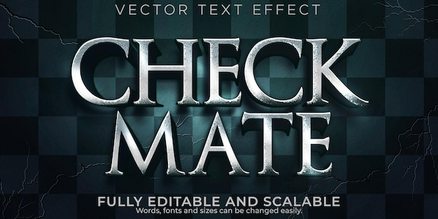 Chess checkmate text effect, editable epic and play text style