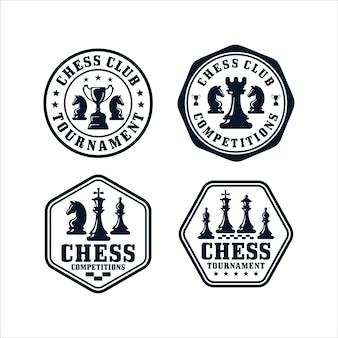 Chess club design logo collection