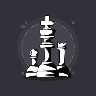 Chess game design with pieces