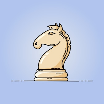 Chess horse vector flat icon