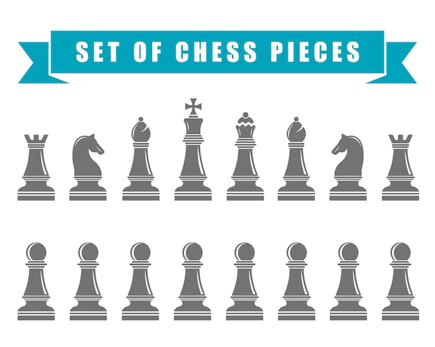 Chess icons.  illustration.