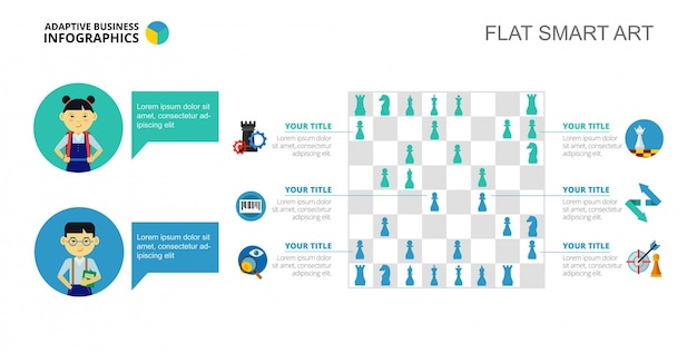 Chess infographics slide template