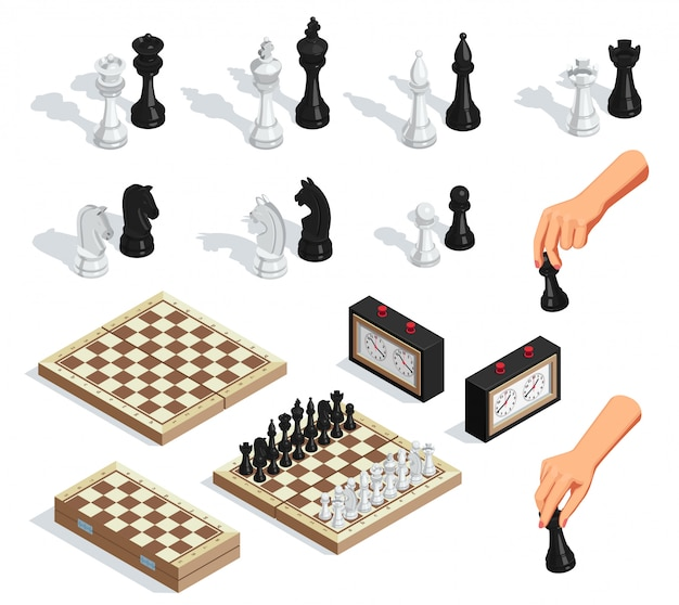 Chess isometric set