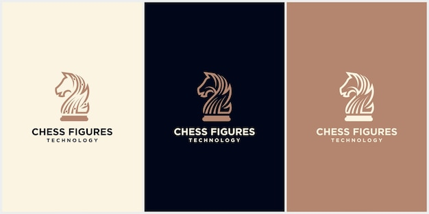 Chess king design, chess piece icon. board game, isolated on blue and white background, modern chess logo Premium Vector
