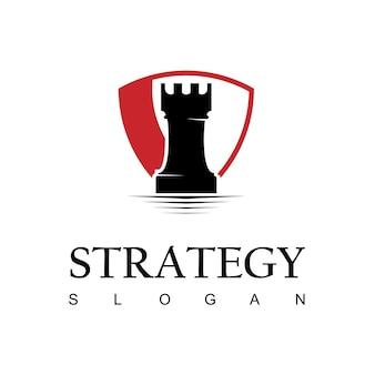 Chess logo design template