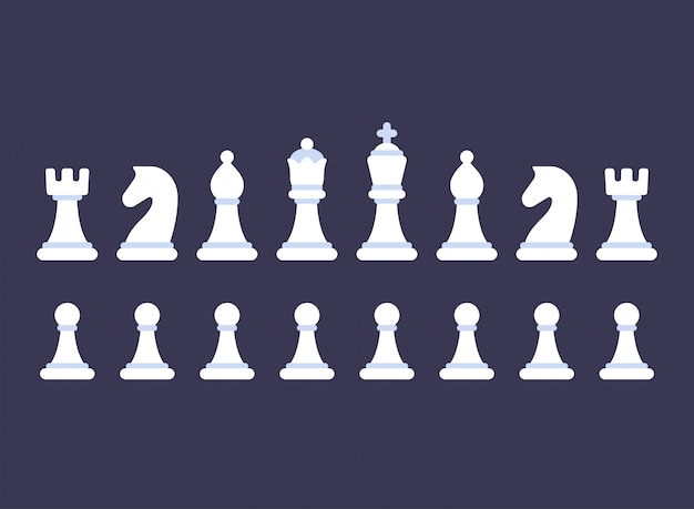 Chess pieces icon set
