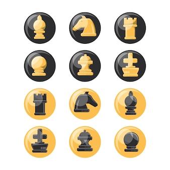 Набор иконок для шахматных фигур