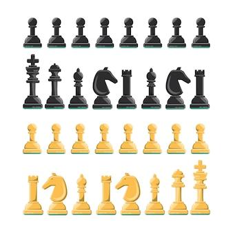 Chess pieces icon set
