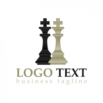 Chess pieces logo