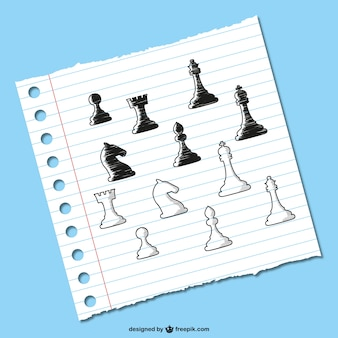 Chess pieces sketch