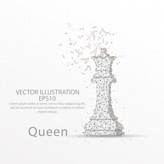 Шахматная королева с низким полипроводом.