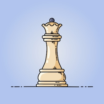 Chess queen vector flat icon