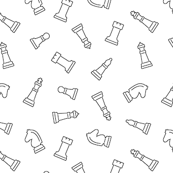 Chess seamless vector pattern