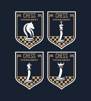 Chess tournament emblems