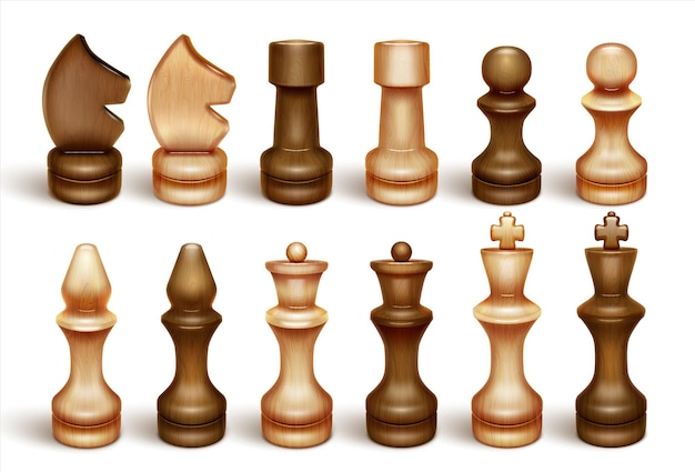 Chessmen chess is a board game and sport Premium Vector