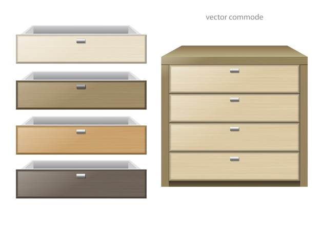 Chest of drawers multicolor