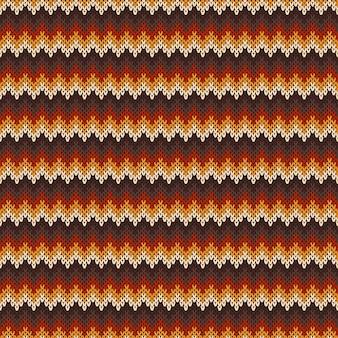 Шеврон абстрактный узор вязаный свитер.