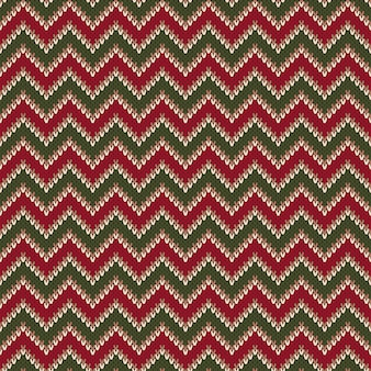 Chevron abstract knitted sweater pattern.