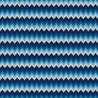 Chevron abstract knitted sweater pattern