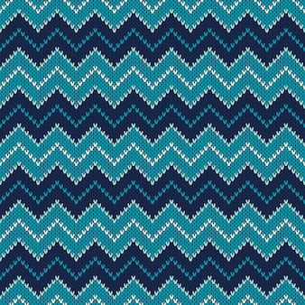 Chevron knitted pattern. fair isle style knitting sweater design. abstract seamless knitted background