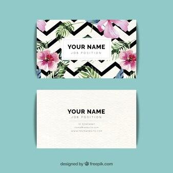 Chevron pattern business card