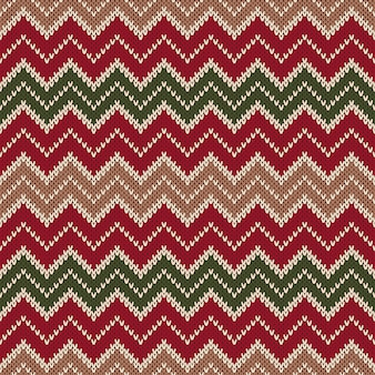 Chevron style knitted seamless pattern. abstract background