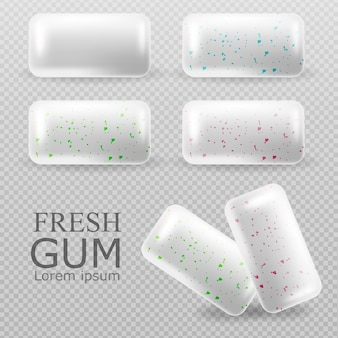 Chewing gum set