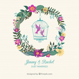 Chic bird cage nuptial label