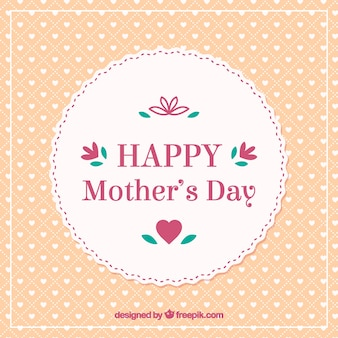 Chic Retro Happy Mothers Day Card