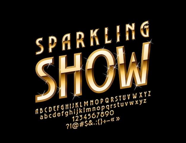 시크 스파클링 쇼. 골든 럭셔리 글꼴