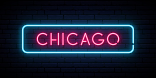Chicago neon sign.