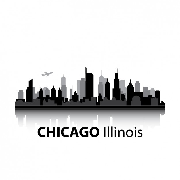 chicago vectors photos and psd files free download rh freepik com chicago skyline vector image chicago skyline silhouette vector art free