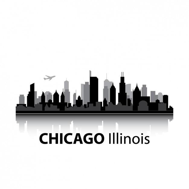 chicago vectors photos and psd files free download rh freepik com chicago skyline flag vector chicago skyline silhouette vector art free
