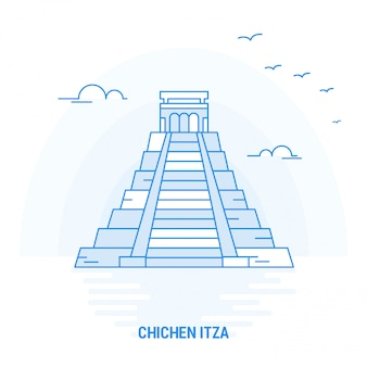 Chichen itza blue landmark