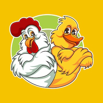 Цыпленок и утка