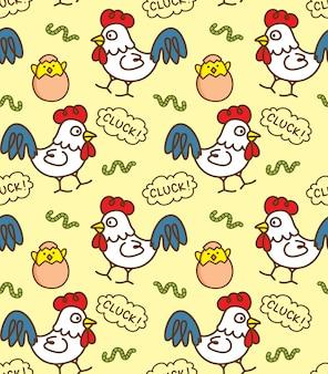 닭고기와 달걀 원활한 배경
