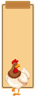 Chicken on blank template