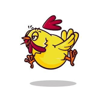 Chicken cartoon logo