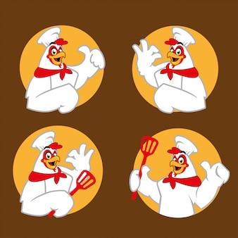 鶏シェフの漫画のキャラクターのマスコット