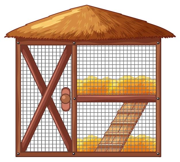 鶏肉のない鶏小屋