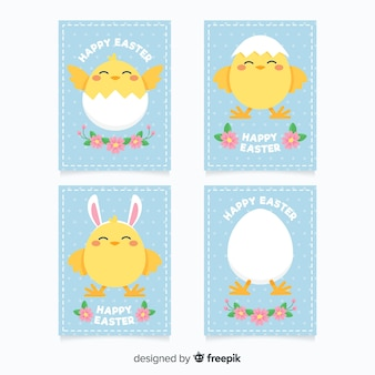 Chicken easter card pack