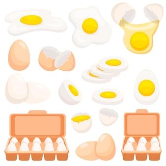 鶏卵セット Premiumベクター