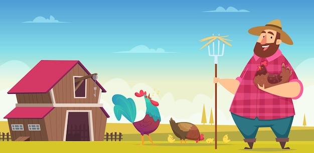 Куриная ферма. промышленность производства домашней птицы