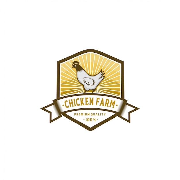 Chicken farm logo collection stock