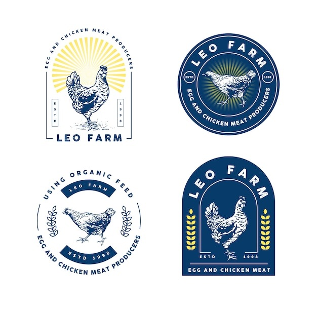 Chicken farm logo