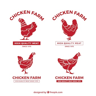 Chicken farm logos collection