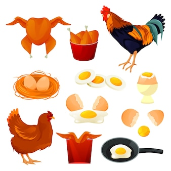 Chicken food and poultry products